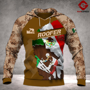 MTP ROOFER MEXICO PATRIOT HOODIE 3D PMT