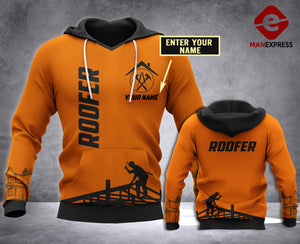 Personalized Roofer 3D all over printed hoodie WHJ