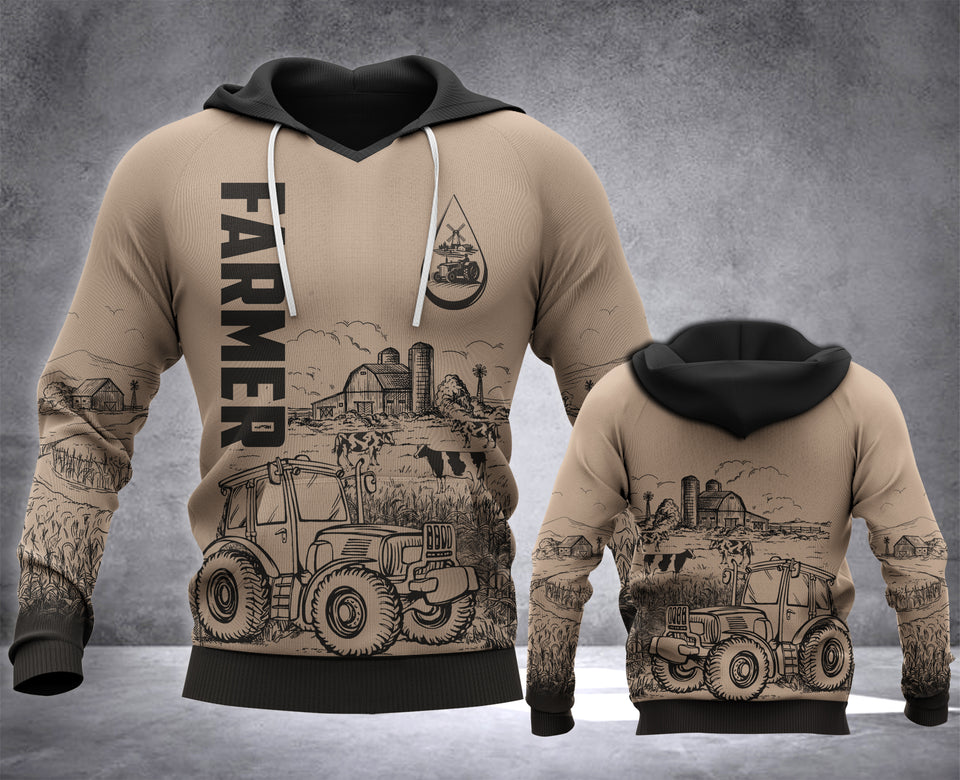 FARMER LMT 3D all over printed hoodie