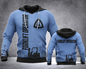 Forklift Operator 3D all over printed hoodie WHJ