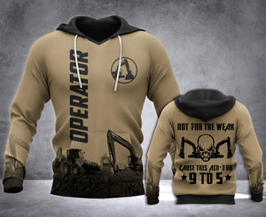 Operator Not For The Weak 3D all over printed hoodie WHJ