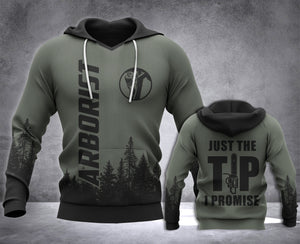 Arborist Just The Tip 3D all over printed hoodie WHJ