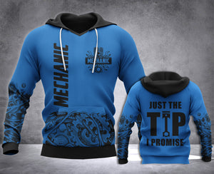 Mechanic Just The Tip 3D all over printed hoodie WHJ