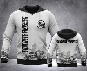 Concrete Finisher 3D all over printed hoodie WHJ