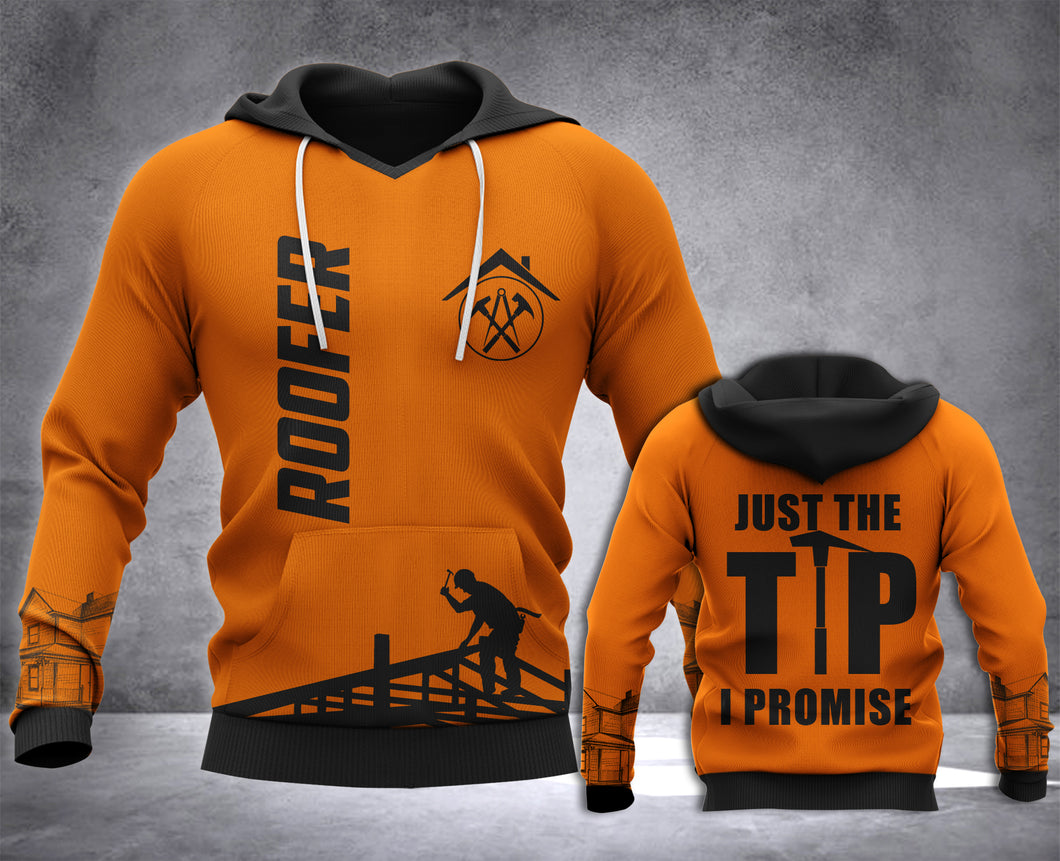 Roofer Just The Tip 3D all over printed hoodie WHJ