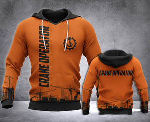 Crane Operator 3D all over printed hoodie WHJ