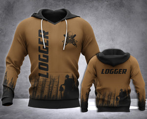 Logger 3D all over printed hoodie WHJ