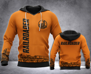 Railroader 3D all over printed hoodie WHJ