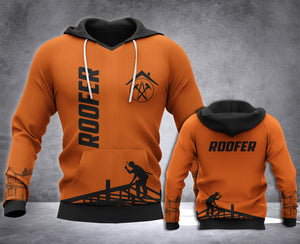Roofer 3D all over printed hoodie WHJ
