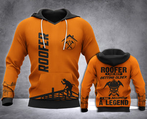 Roofer Legend 3D all over printed hoodie WHJ