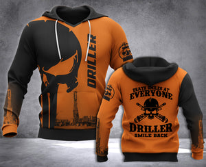 DH DRILLER SMILE BACK PUN HOODIE ALL OVER RINT