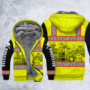 DH PIPEFITTER SAFETY HOODIE ALL OVER PRINT