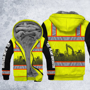 DH PLANT OPERATOR SAFETY FLEECE ZIPPER HOODIE