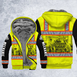 DH DIESEL MECHANIC SAFETY FLEECE ZIPPER HOODIE