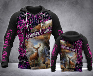 COUNTRY GIRL HOODIE 3D ALL OVER PRINT