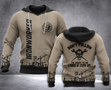 Ironworker Don't Follow 3D all over printed hoodie WHJ
