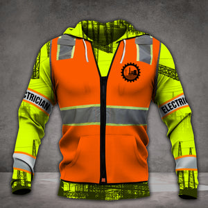 VH ELECTRICIAN FORM 3D HOODIE ALL PRINT