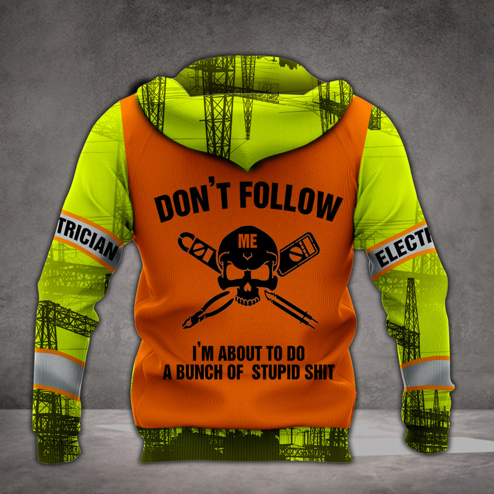 VH ELECTRICIAN DON'T FOLLOW ME 3D HOODIE ALL PRINT