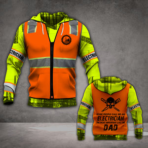 VH ELECTRICIAN DAD 3D HOODIE ALL PRINT
