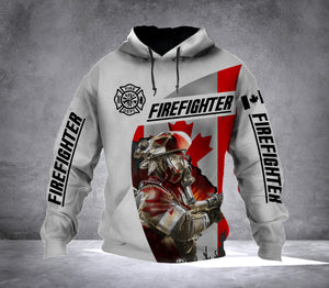 Firefighter Flag CANADA HOODIE