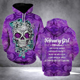 TT - FEBRUARY GIRL WITH TATTOOS HOODIE