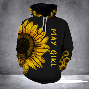 MAY GIRL  SUNFLOWER  - 3D ALL OVER PRINT