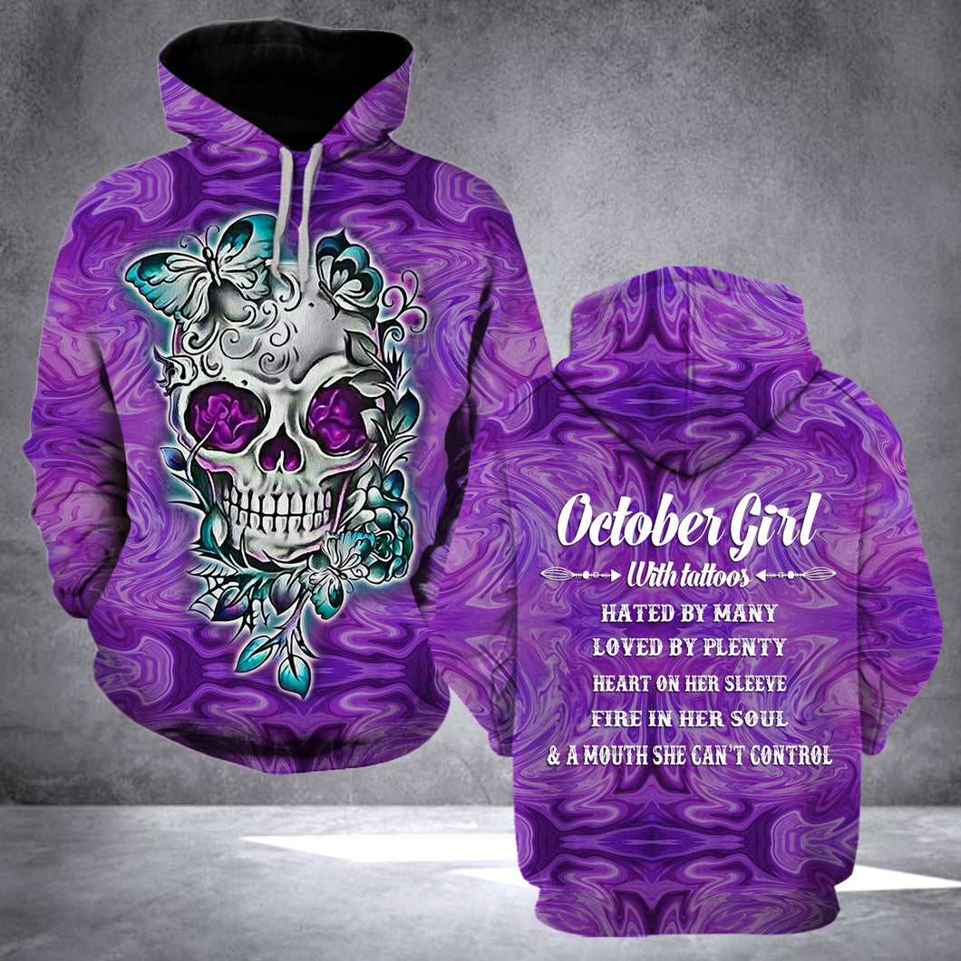 TT - OCTOBER GIRL WITH TATTOOS HOODIE