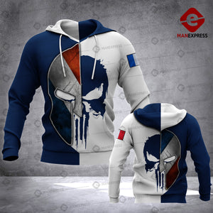 Blue Soldier French 3d Printed HOODIE NQA
