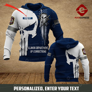 DH Illinois Department of Corrections CUSTOMIZE HOODIE 3D 1504