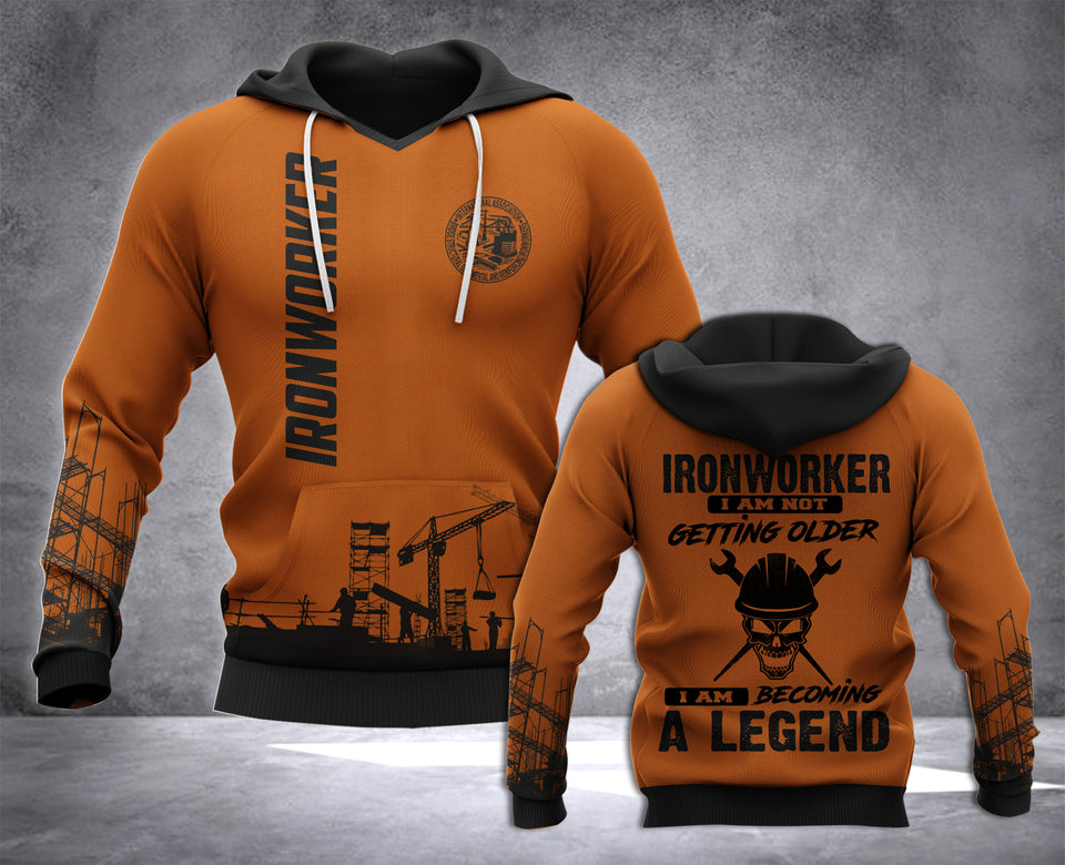 Ironworker Legend 3D all over printed hoodie WHJ