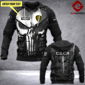 DH CDCR CORRECTIONAL OFFICER CUSTOMIZE HOODIE 3D 1804