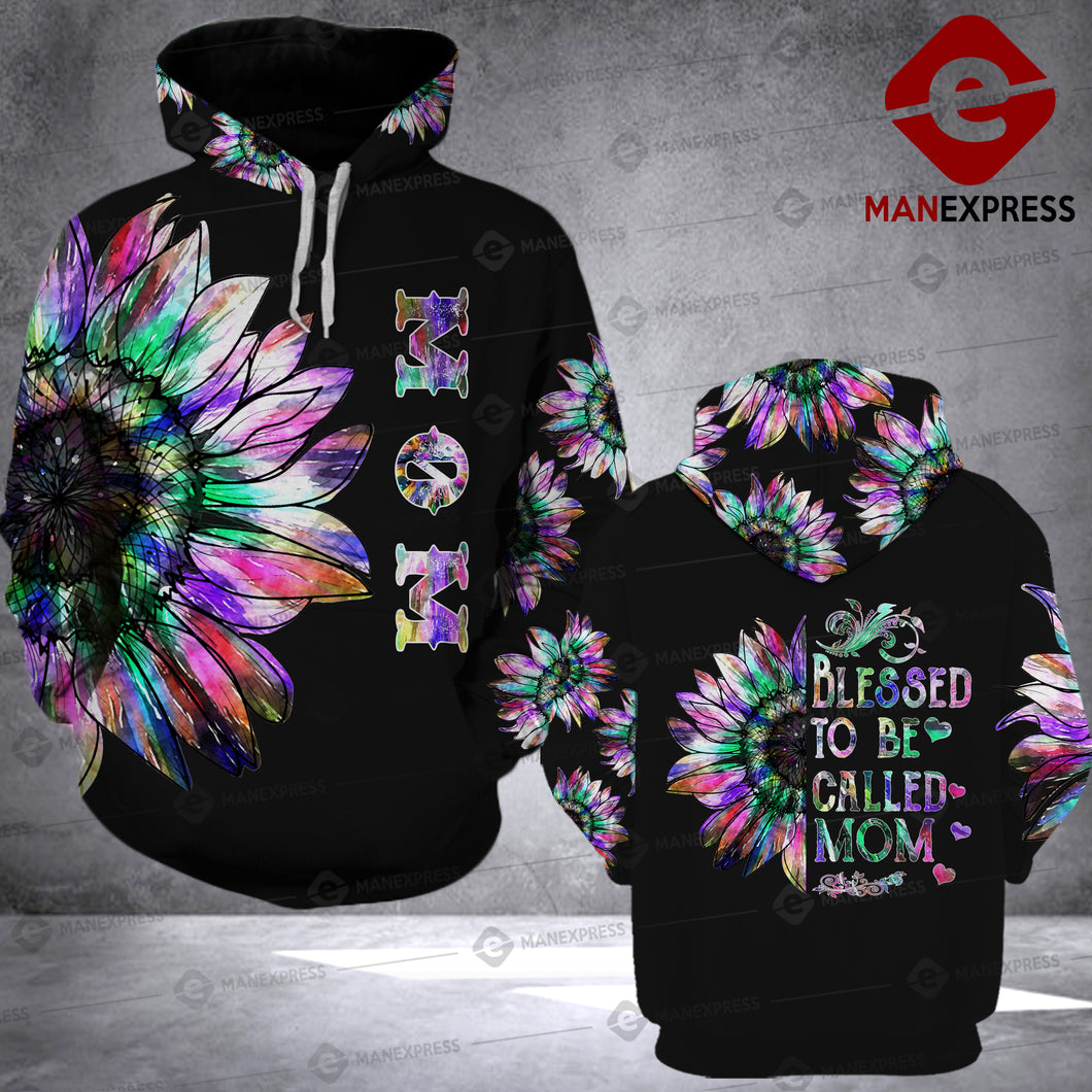 LKH CALLED MOM COLOR HOODIE 3D PRINT PDT0405
