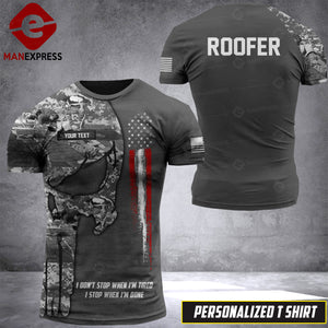 Personalized Roofer 3D Printed Tshirt LDDZ