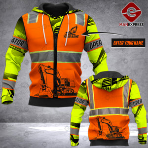 CUSTOMIZE Excavator LMT SAFETY 3D PRINTED HOODIE PDT0201