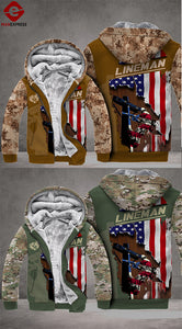 MTP LINEMAN PATRIOT CAMO FLEECE HOODIE 3D