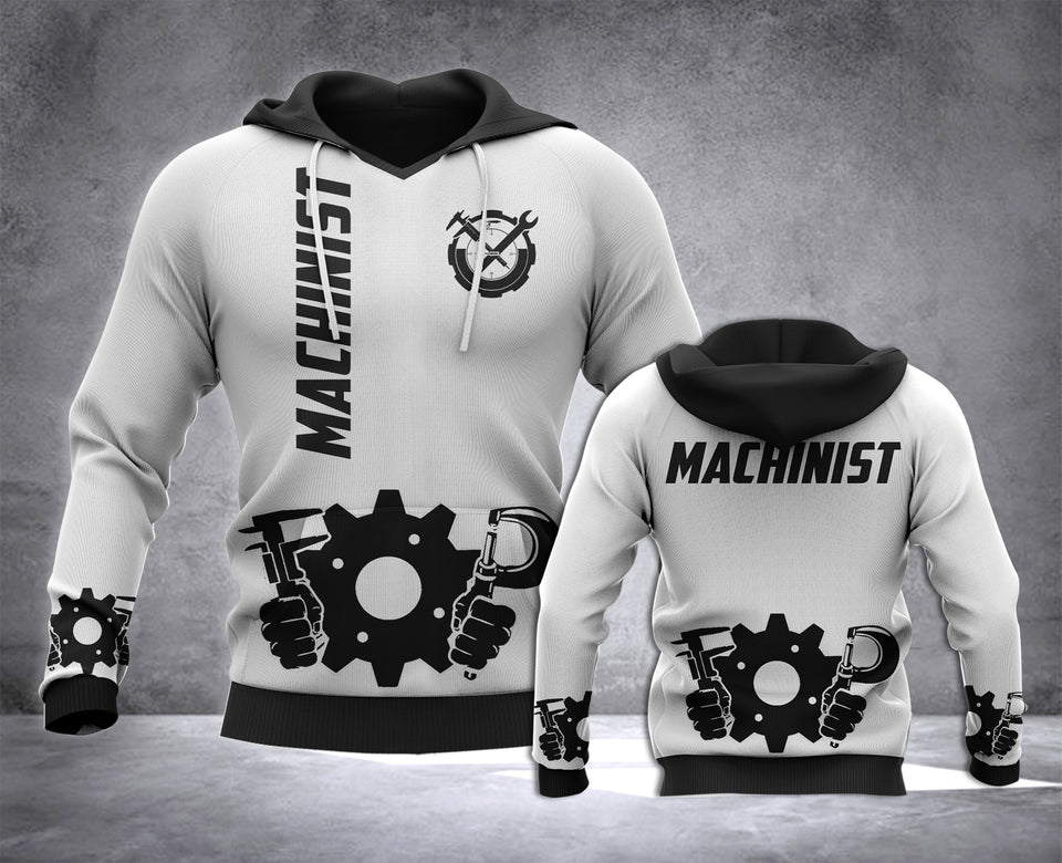 Machinist 3D all over printed hoodie WHJ