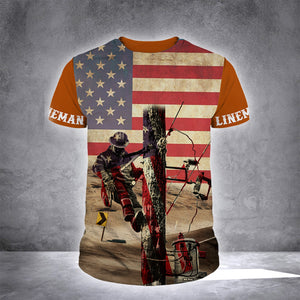 LINEMAN FLAG 3D PRINTC LIMITED EDITION