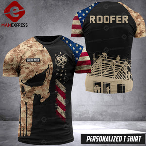 VH Customize ROOFER T-SHIRT 3D ALL PRINTED 0108 HVQ