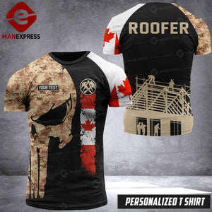 VH Customize ROOFER CANADA T-SHIRT 3D ALL PRINTED 0308 HVQ