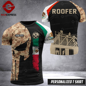 VH Customize ROOFER MEXICO T-SHIRT 3D ALL PRINTED 0308 HVQ