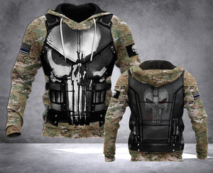 MT USA POLICE CAMOUFLAGE ARMOR HOODIE