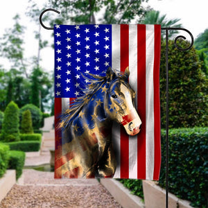 Flag GARDEN Quarter Horse 4July