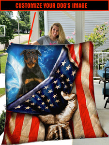 CUSTOMIZE IMAGE ROTTWEILER QUILT PLANKET