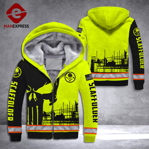 DH SCAFFOLDER FLEECE ZIPPER PUN HOODIE HEROES ALL OVER PRINT