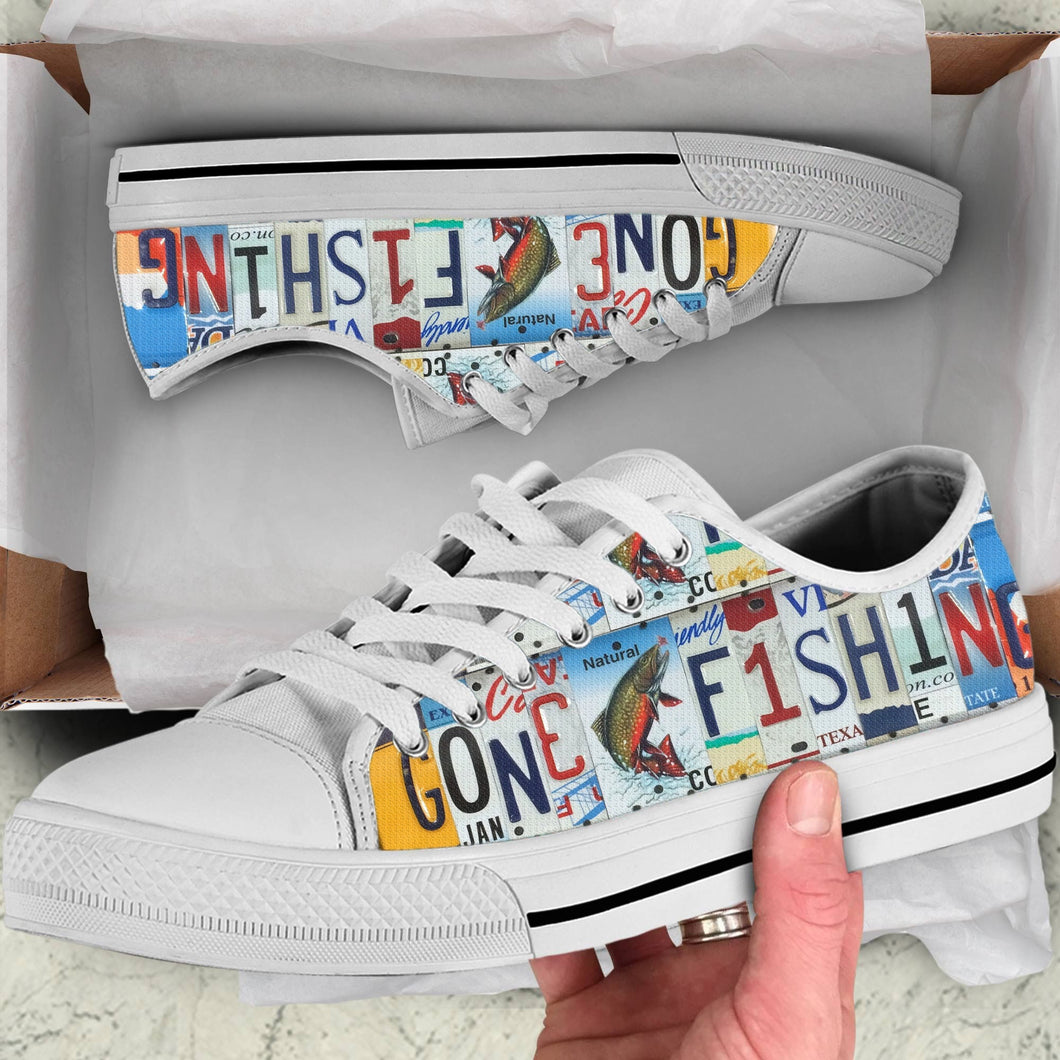 Gone Fishing - LOW TOP SHOES