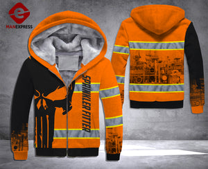 LMT Sprinkler Fitter 2 PUNISHER SAFETY PRINT HOODIE