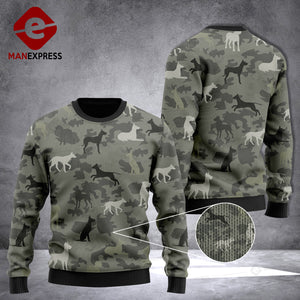 VH Great Dane CAMO 3D printed Knitting Wool Sweater 0412 LVT