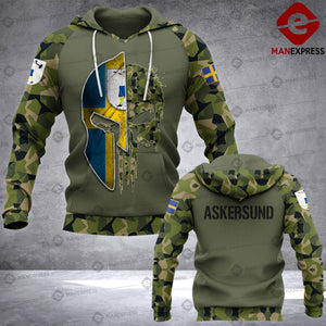 Spartan Askersund - Sweden Camo army Pns 3D printed hoodie NQA