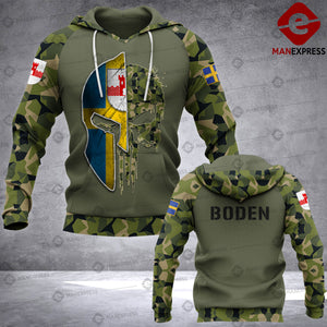 Spartan Boden - Sweden Camo army Pns 3D printed hoodie NQA