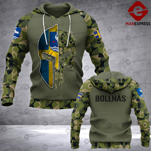Spartan Bollnäs - Sweden Camo army Pns 3D printed hoodie NQA